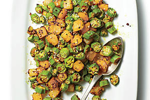 Okra-and-Potato Hash