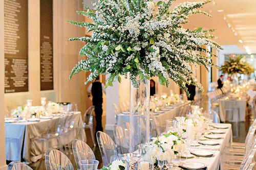 Breathtaking Bridal Wreath Centerpiece