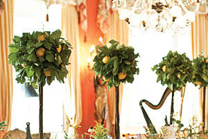 Whimsical Lemon Tree Centerpiece