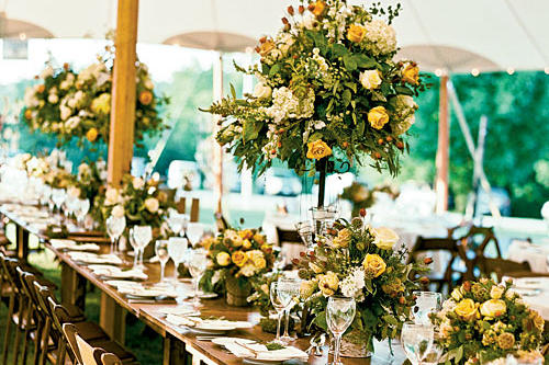 Yellow Country Style Centerpiece