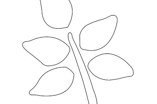 Easy Fall Branch Template