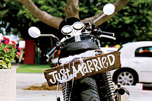 'Just Married' Getaway Sign