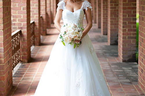 Lace Sleeve Gown