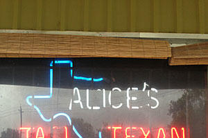 Alice's Tall Texan Drive-Inn, Houston, Texas