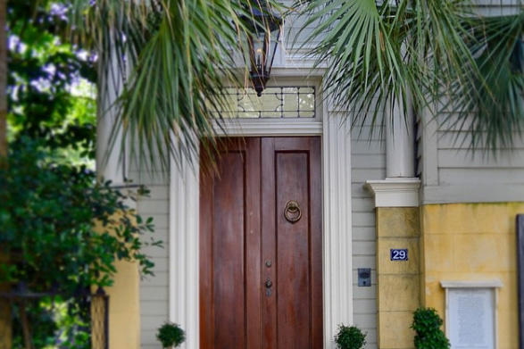 Stained Double Doors