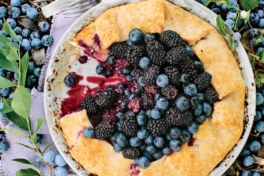 Double Berry Almond Galette Recipe
