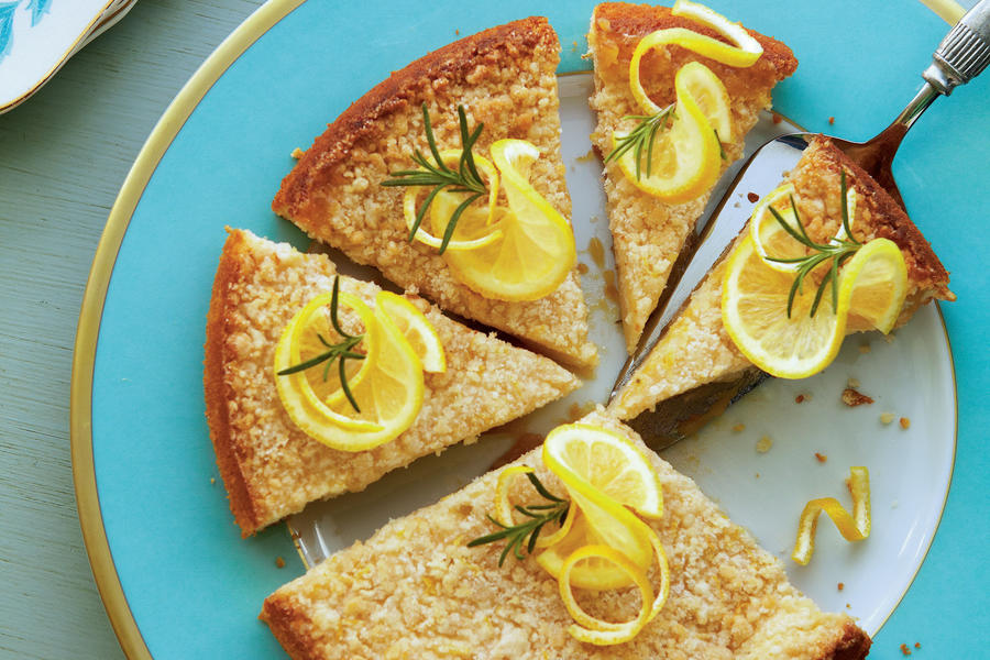 Fresh Rosemary complements the lemony flavor in this moist coffee cake. Garnish with lemon slices and fresh rosemary sprigs for a showstopping presentation.