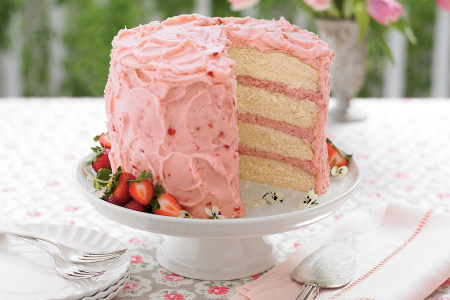 Strawberry Mousse Cake - Strawberry Cake Recipes - Southern Living