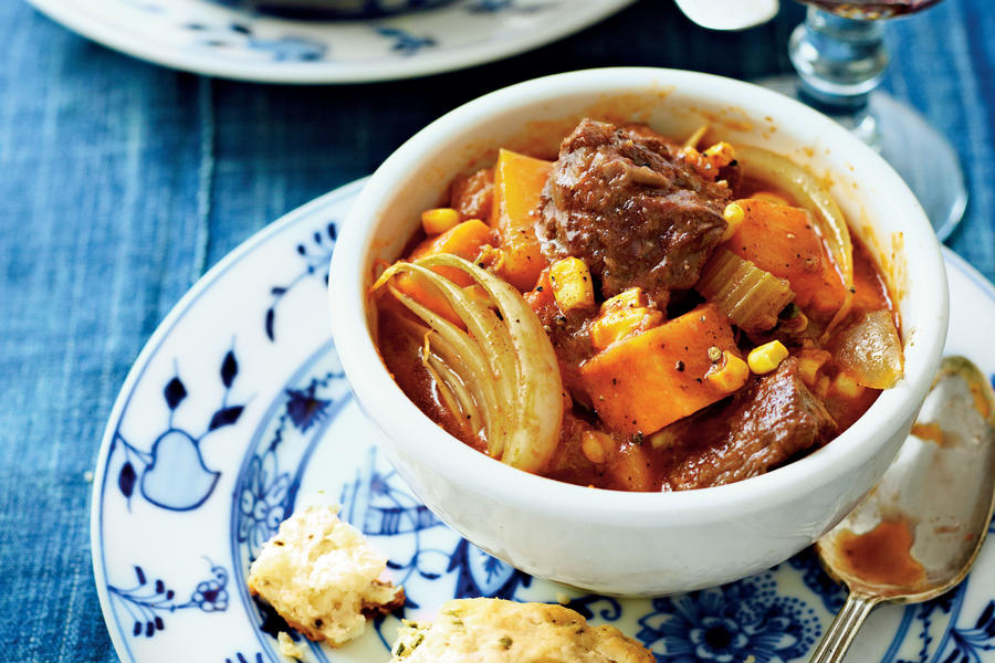 Spiced Beef Stew with Sweet Potatoes