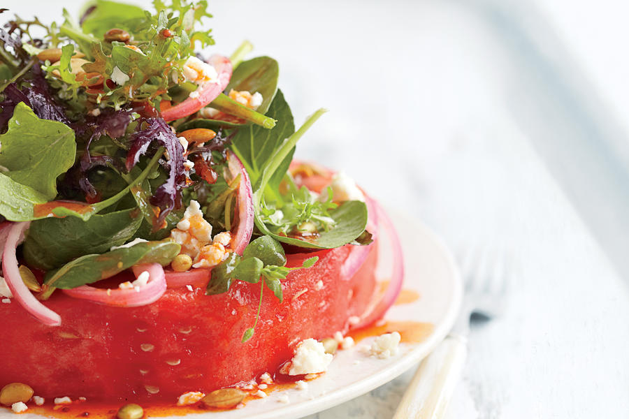 "Watermelon ""Steak"" Salad"