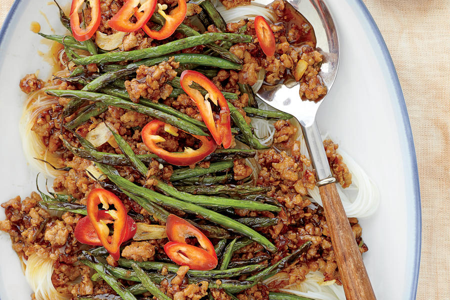 Pork-and-Green Bean Stir-Fry
