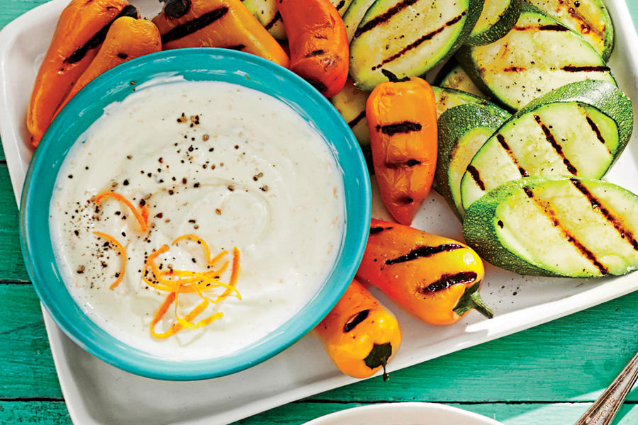Orange-Basil Yogurt Dip
