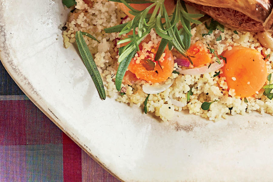 Parsley Couscous with Apricots Recipe