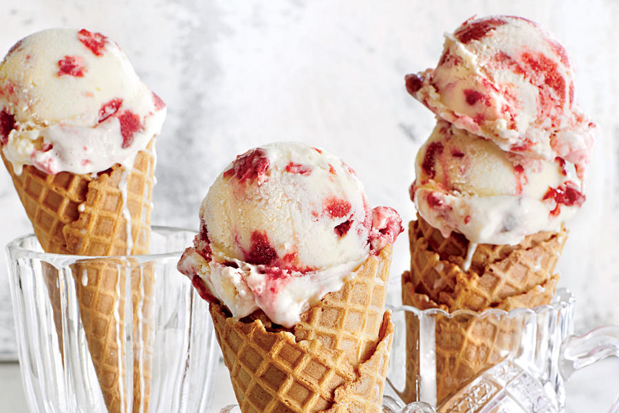Buttermilk-Plum Ice Cream