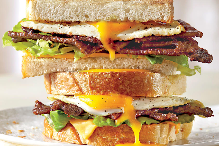 The Ultimate Fried Egg Sandwich with BBQ Bacon