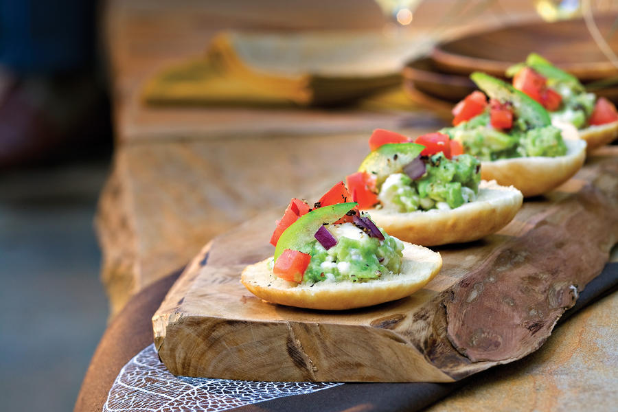 Guacamole-Goat Cheese Toasts
