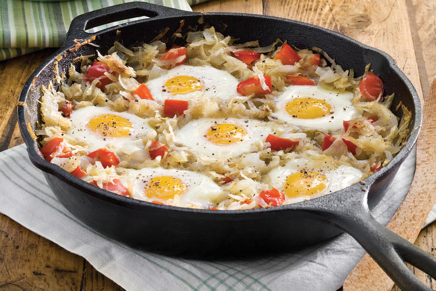 Cast Iron Skillet Recipe: Sunny SKillet Breakfast