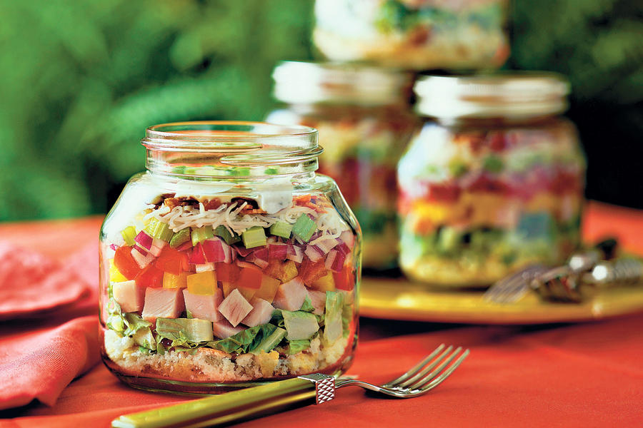 Top-Rated Main Dishes: Layered Cornbread-and-Turkey Salad