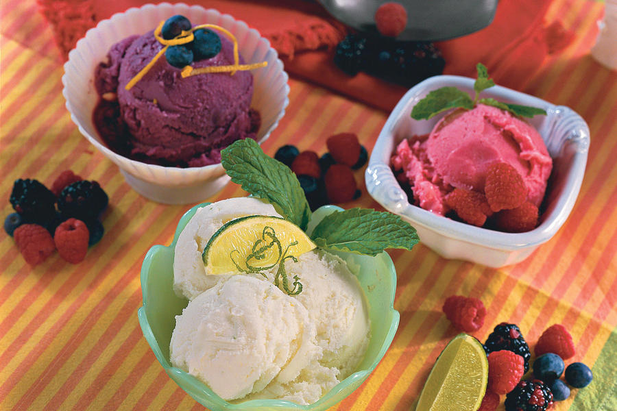 Frosty Fruit and Berry Sherbets