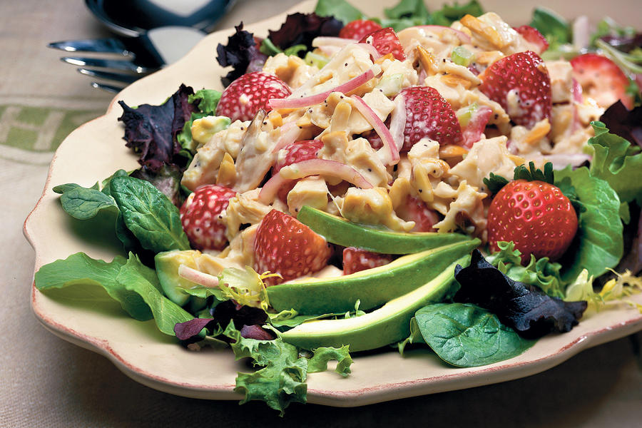 Main Dish Salad Recipes: Chicken-and-Strawberry Salad
