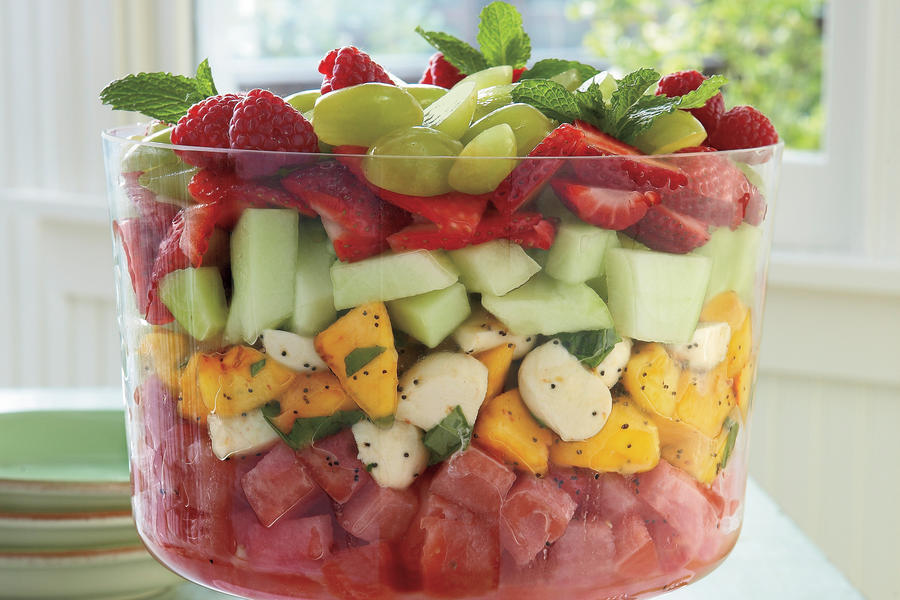 Summer Salad Recipes: Melon-and-Mozzarella Salad
