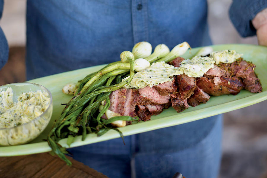 Grilled Tri-Tip with Citrus-Chile Butter