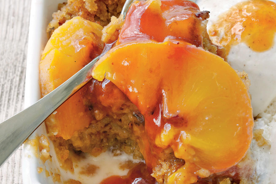 Buttermilk Peach Pudding