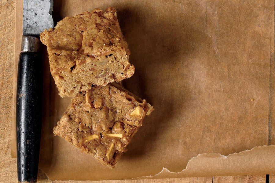 Apple-Butterscotch Brownies