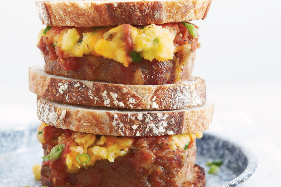 Meatloaf-and-Mashed Potato Sandwiches