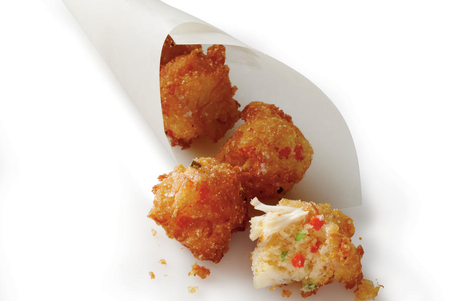 Crab Cake Hush Puppies Recipe