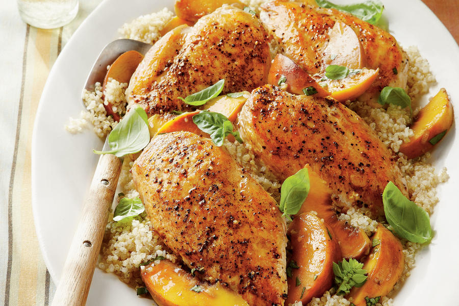 wednesday basil peach chicken breasts 2 5 recipe basil peach chicken ...