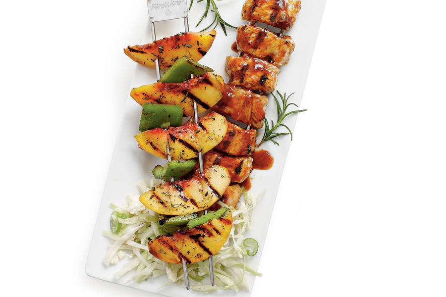 Peach and Pork Kabobs