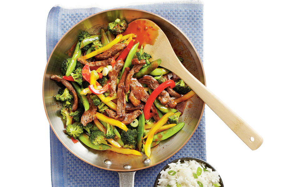 """PB and J"" Steak Stir-fry with Rice"