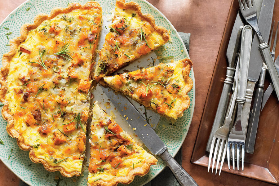 Roasted Sweet Potato-and-Onion Tart