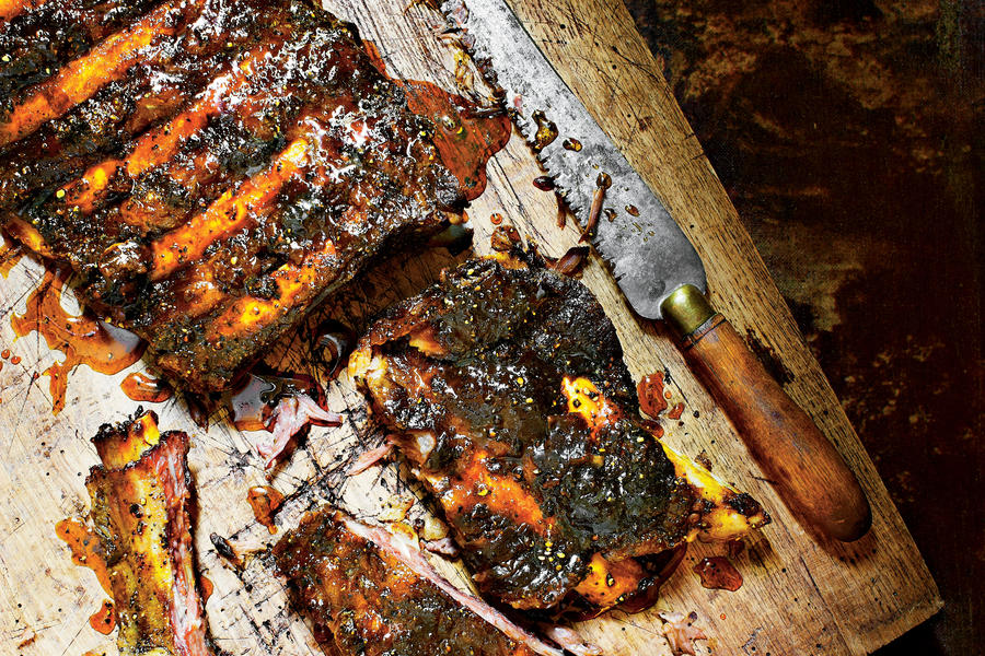 Beef Ribs with Sorghum Glaze