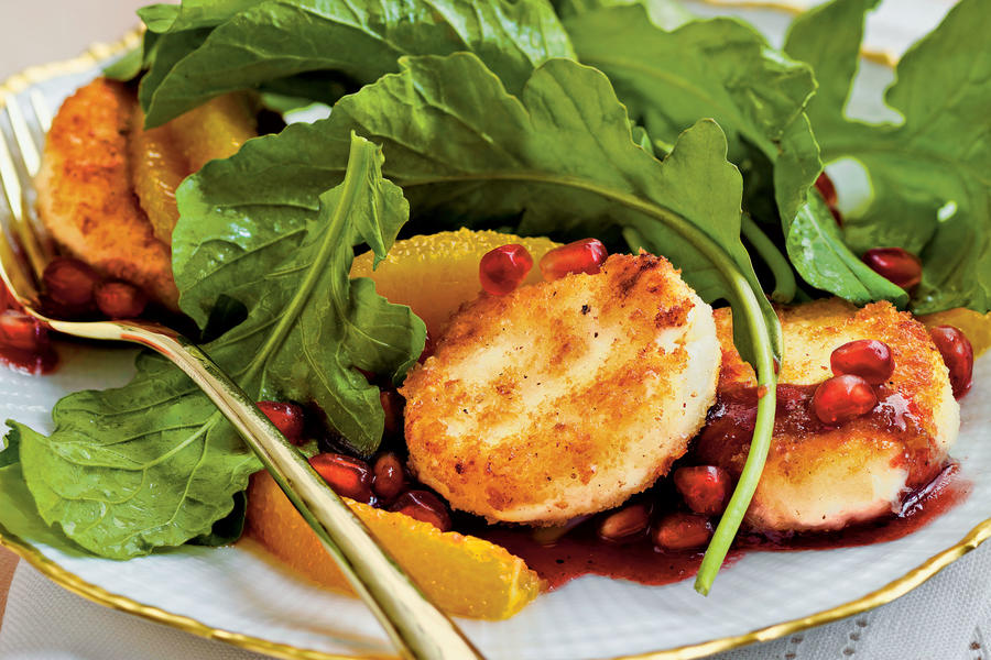 Crispy Goat Cheese-Topped Arugula Salad