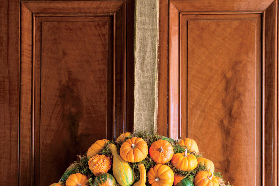 Pumpkin and Gourd Wreath