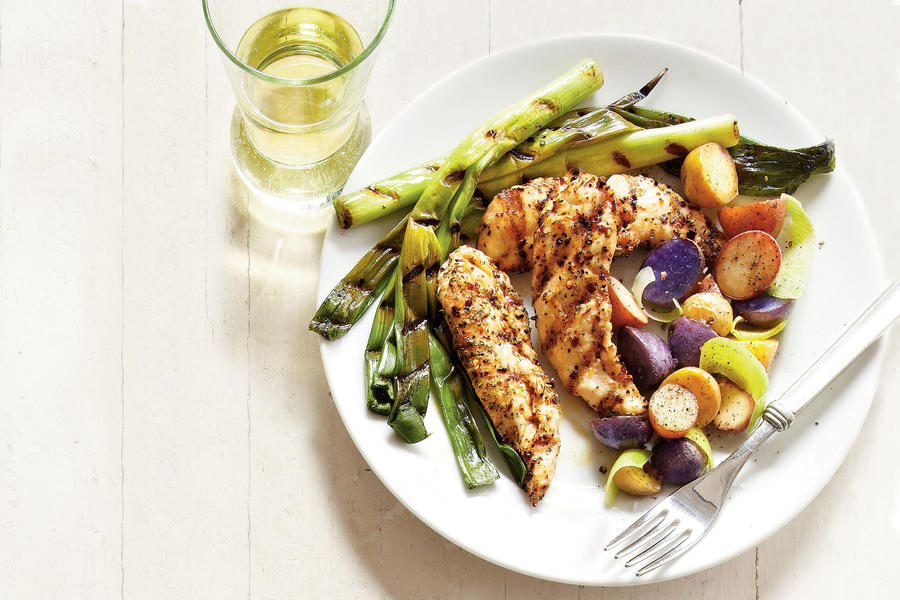 Grilled Chicken and New Potatoes