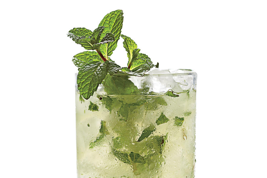Mint-Champagne Shrub