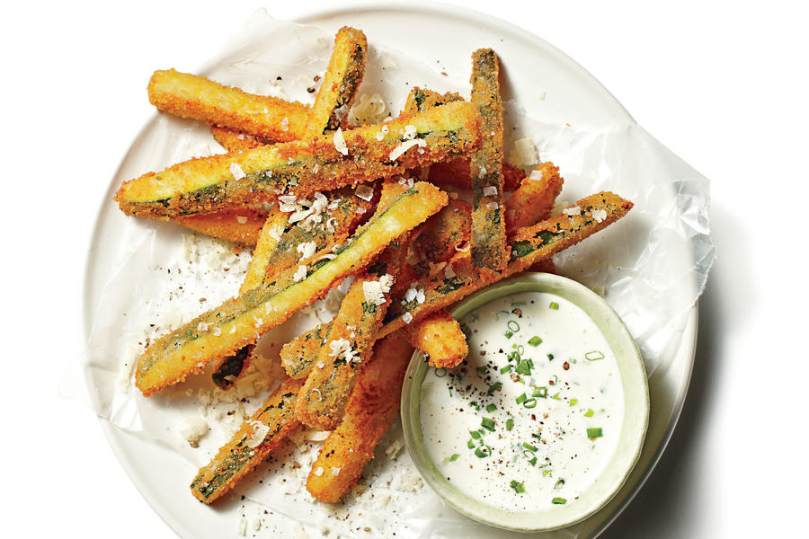 Fried Zucchini Straws