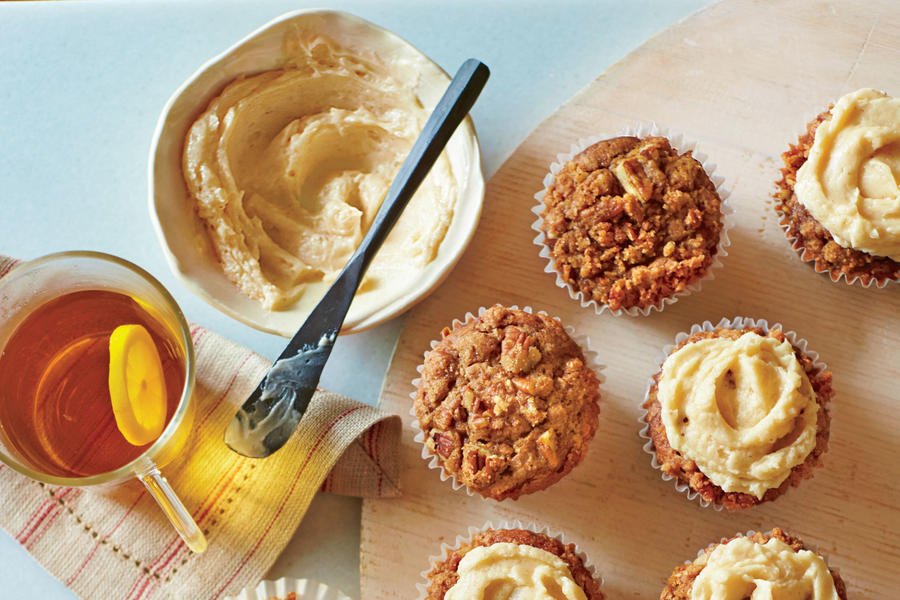 Gingerbread Muffins with Spiced Streusel and Spiced Hard Sauce