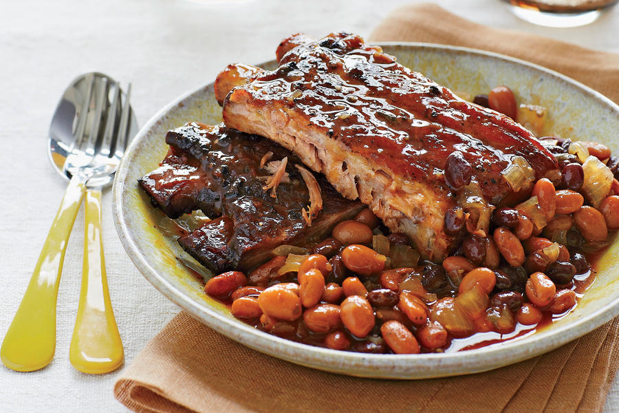 Slow Cooker Recipes: Spicy-Sweet Ribs and Beans Recipes