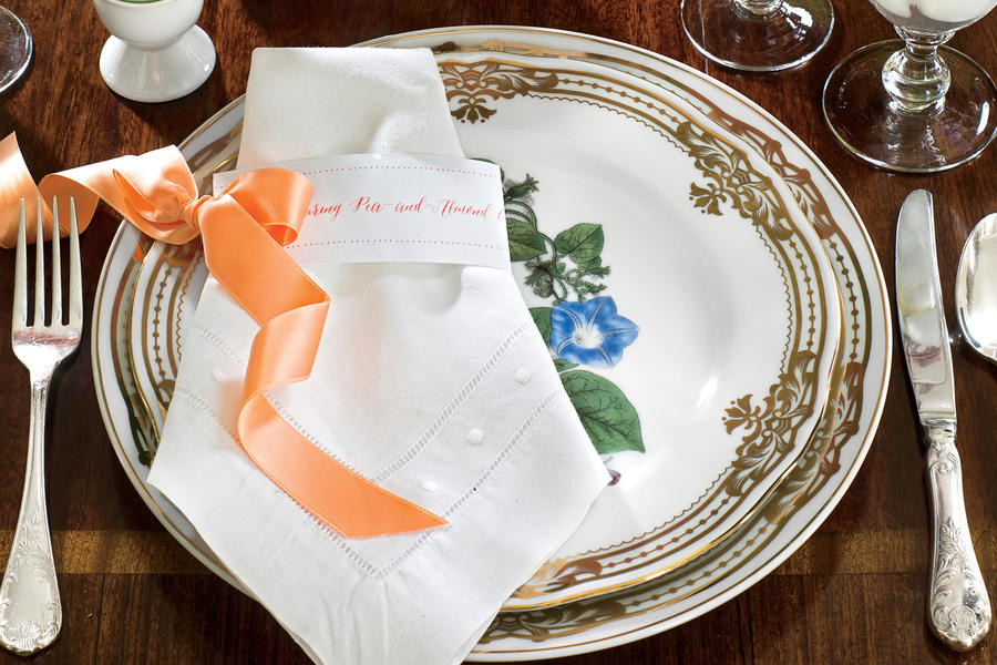 easter luncheon napkins festive easter meal ideas southern living