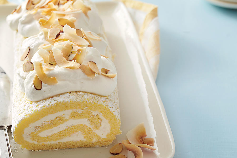 Coconut-Almond Roulade