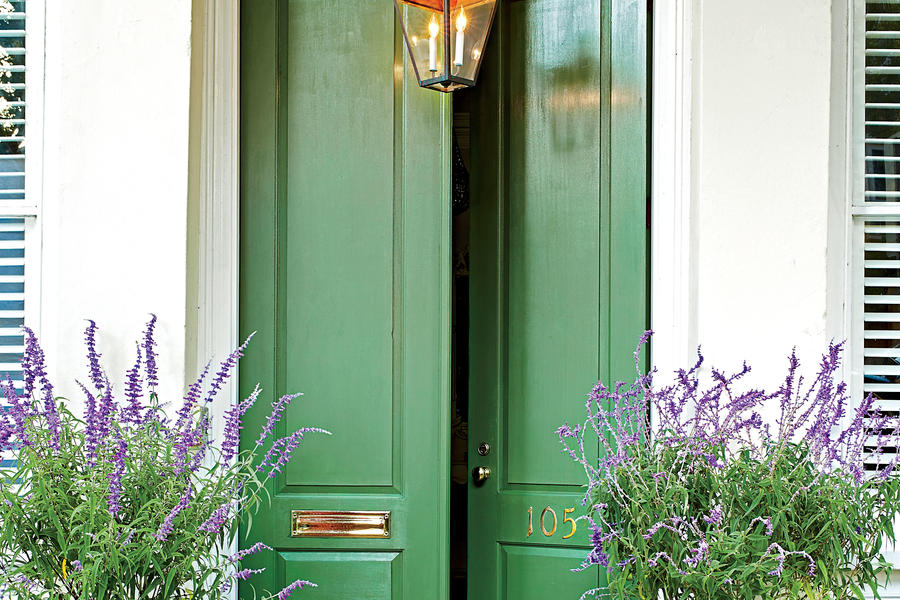 Green Charleston Front Door