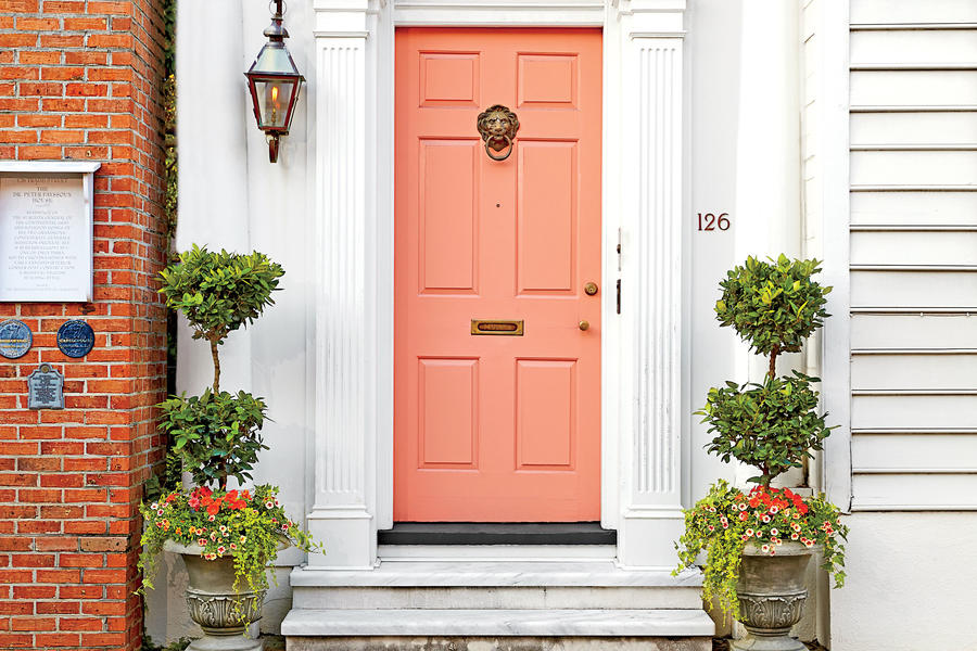 Peaches And Cream Stylish Looks For Front Entry Doors