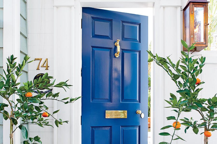 Charleston Blue Front Door