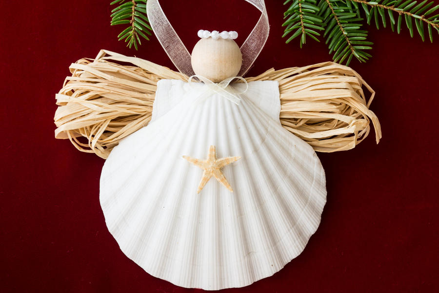 Clamshell Angel Ornament