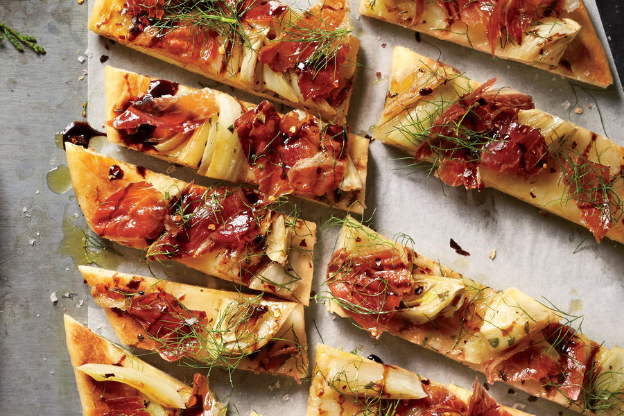 Roasted Fennel-And-Prosciutto Flatbread - Best Party Appetizers