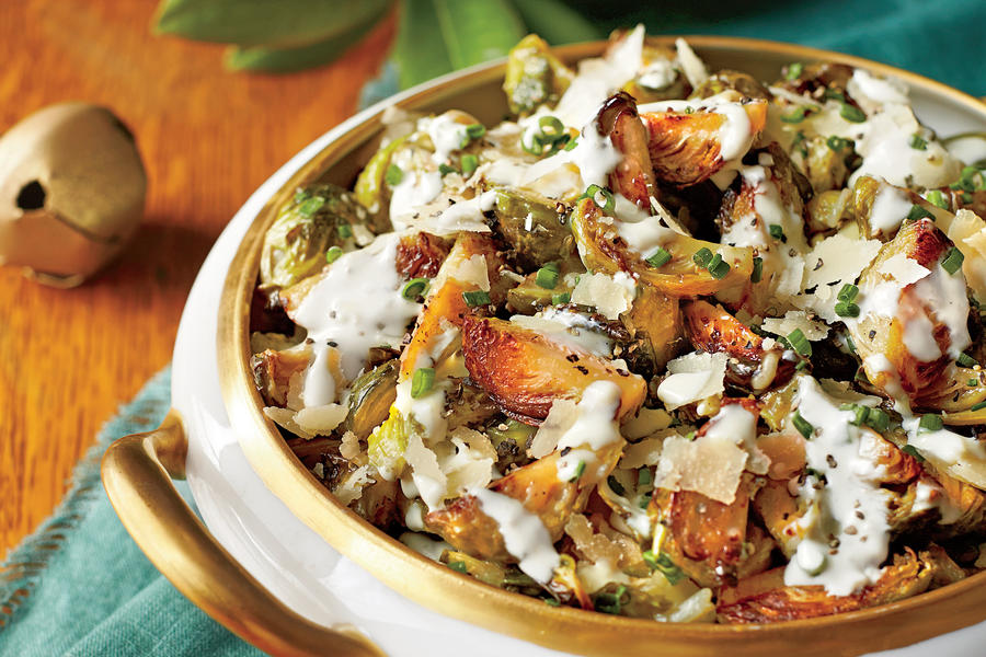 Brussels Sprouts with Parmesan Cream